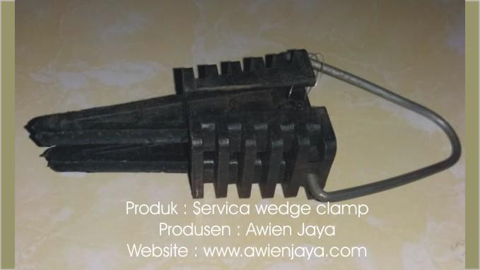 Gambar alat aksesoris listik PLN dan Telkom - Servica wedge clamp